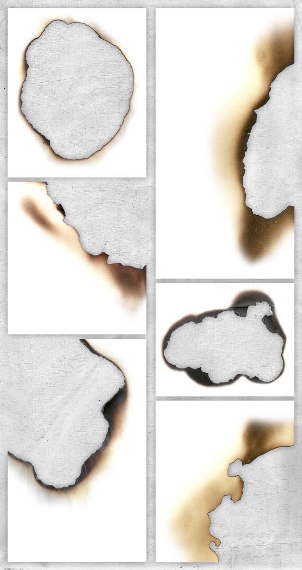 6款超高质量纸边烧焦纹理下载