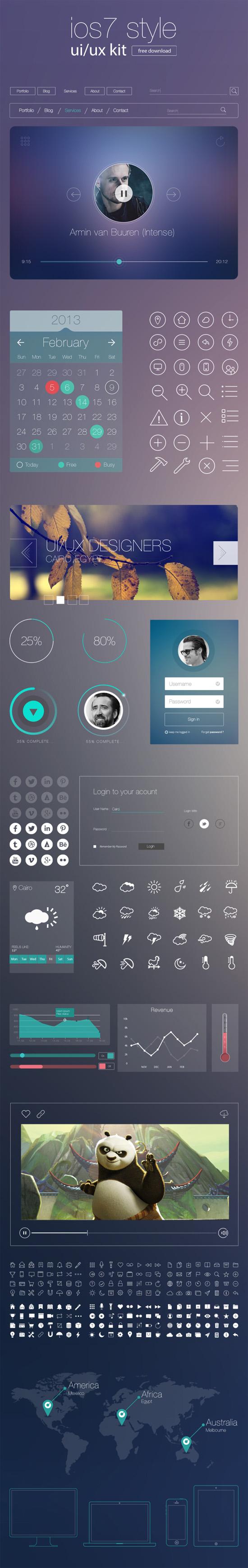 最新的IOS7风格UI组件免费下载